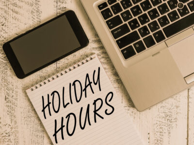 Modified opening hours during holiday season