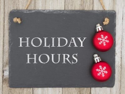 changed openinghours Holiday season